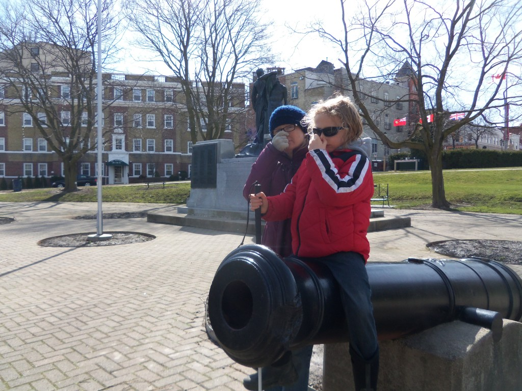 icole and son Jonah executing Dr. Buteyko's body oxygenation test, atop a cannon in Stratford, Ontario's Memorial Gardens.